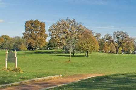 A sunny day view from Wing Park Golf Course