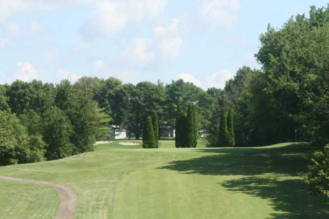 A view of a fairway at Sunset Hills Country Club