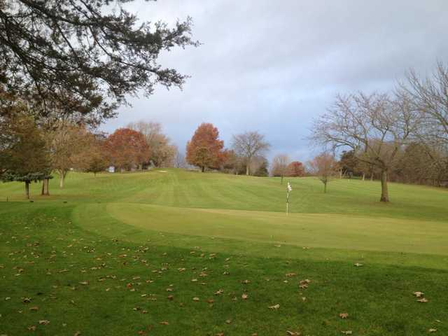A view of a green at Cedardell Golf Club