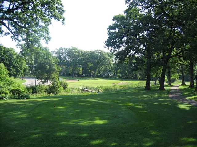 A view from a tee at Fairways Golf Course