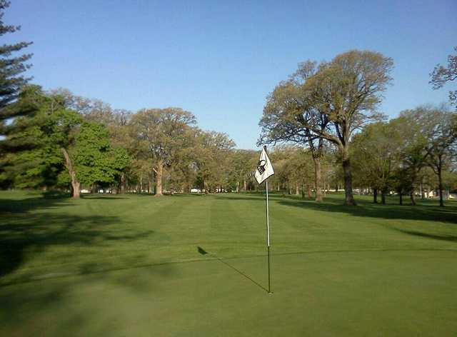 A view of a hole at Fairways Golf Course