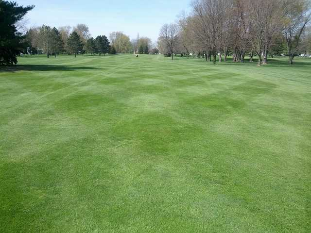 A view of a fairway at Fairways Golf Course