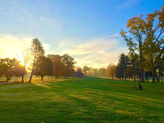A fall foliage view from Ingersoll Golf Course