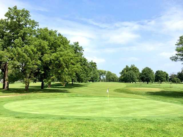 A view of a green at Ingersoll Golf Course