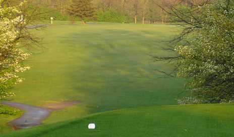 A view from a tee at Cross Creek Golf Course