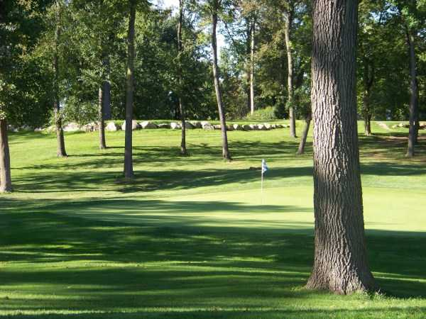 A view of a green at Meadow Valley Golf Club