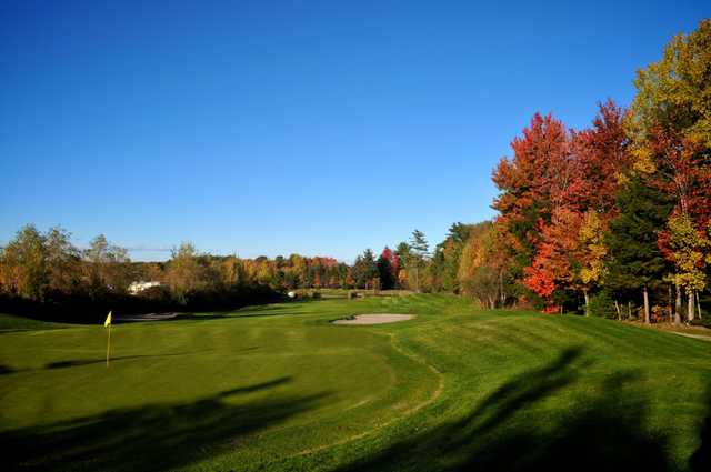 A view of a green at Island Green Golf Center from Traditions Golf Club