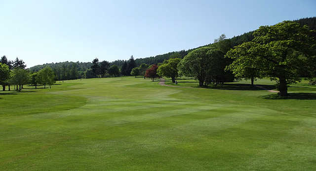 A view of the 12th fairway at Ferntower Course from Crieff Golf Club