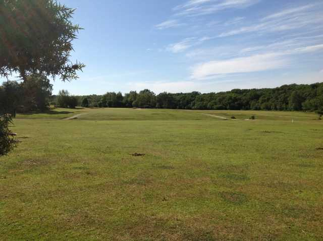 A view down the 15th fairway at New Forest Golf Club
