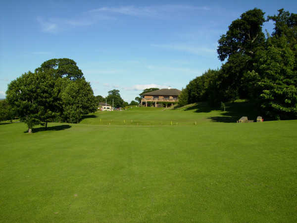A view from fairway #18 at Abergele Golf Club