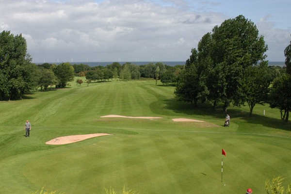 A view of a hole at Abergele Golf Club