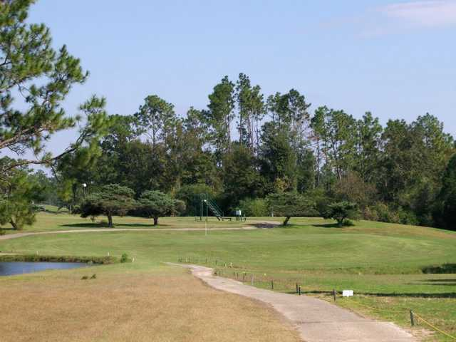 A view of a green at Cypress Lakes Golf Club