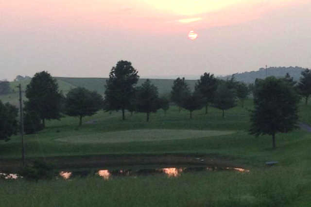 A sunset view from Kentucky Hills Golf Course