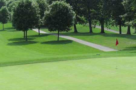 A view of the 5th green at Topstone Golf Course