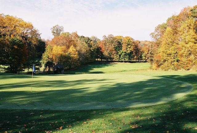 A view of a hole at Twin Hills Country Club