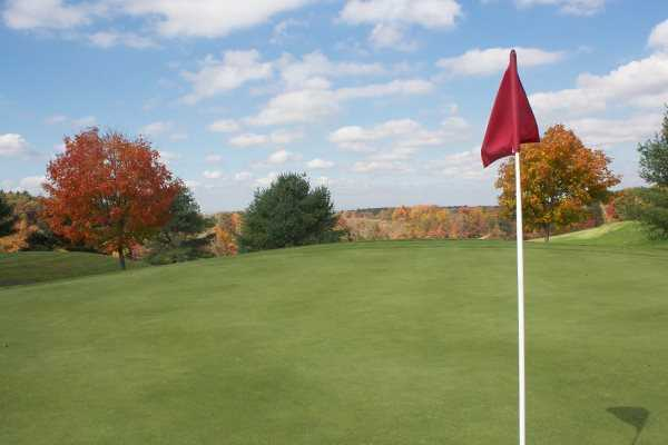 A view from a green at Rolling Meadows Country Club