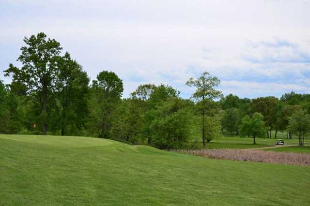 A view of the 9th green at St. Anne Country Club