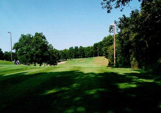 A view from a tee at Highland Greens Golf Course