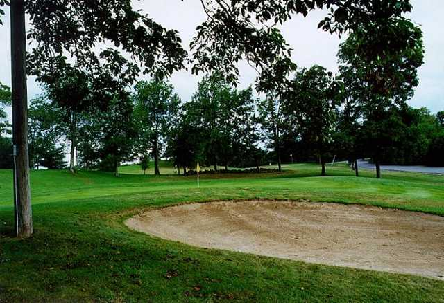 A view of a green at Highland Greens Golf Course