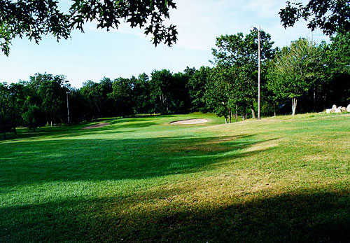A view of a fairway at Highland Greens Golf Course