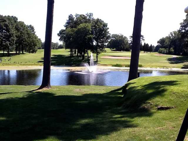 A view over the water from Veterans Memorial Golf Course