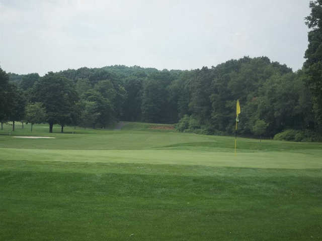 A view of a hole at Hop Brook Golf Course