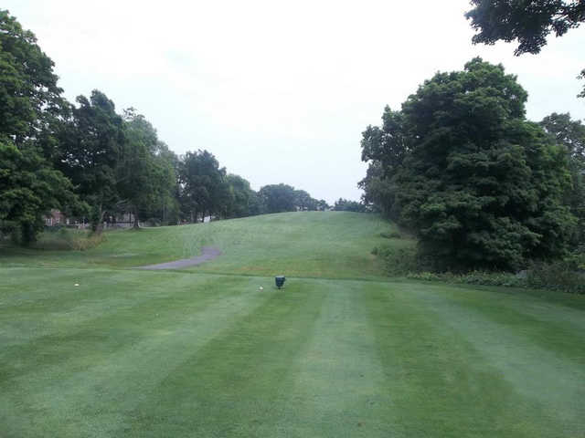 A view from a tee at Hop Brook Golf Course