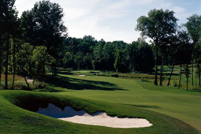 A view of a fairway at Galloping Hill Golf Course