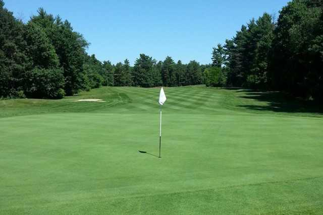 A view of the 5th green at Chicopee Country Club
