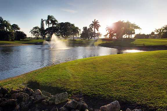 A sunny day view from Pompano Beach Golf Course