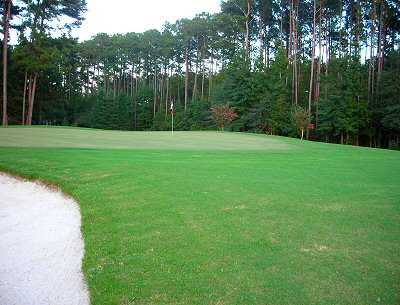 A view of the 12th green at Okatie Creek Golf Club
