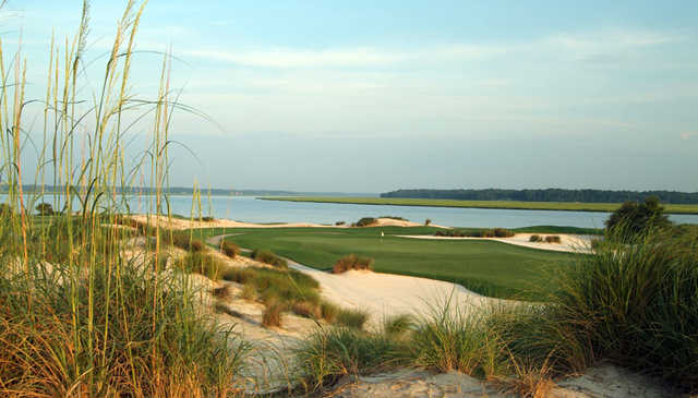A view of a green at Colleton River Club.