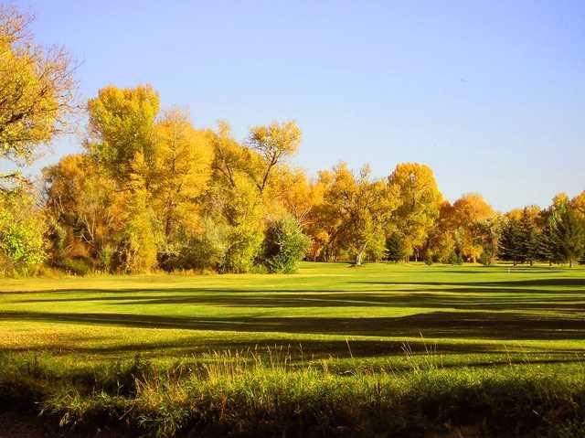 A fall view of a fairway at Jefferson Hills Golf & Recreation