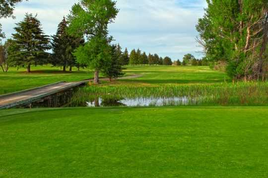 A view over the water from Blackfoot Golf Course