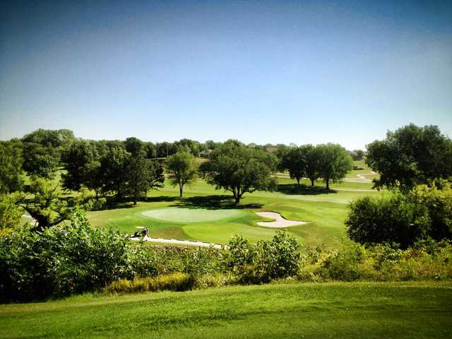 A view of a green at Lake Shawnee Golf Course