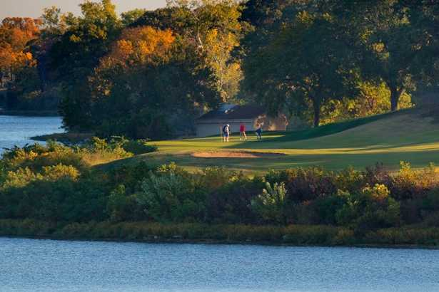 A view over the water from Lake Shawnee Golf Course