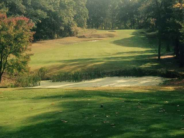 A view from a tee at Stow Acres Country Club