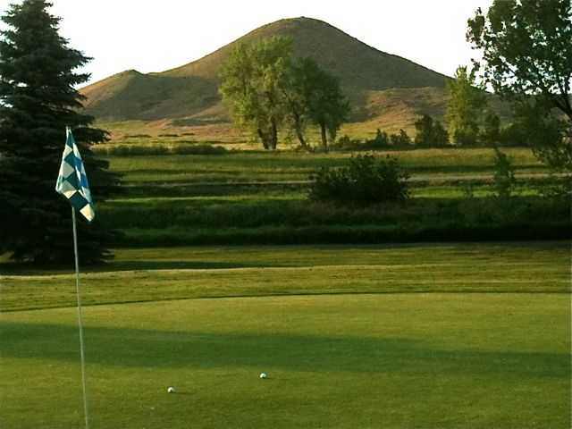 A view from a green at Haystack Mountain Golf Course