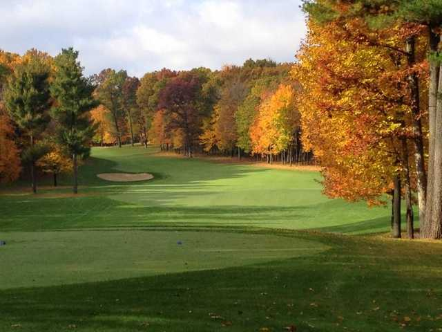 A view from tee #13 at Pilgrim's Run Golf Club