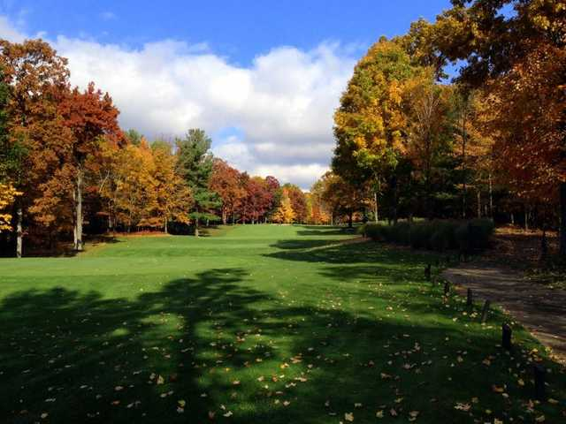 A view from the 17th tee at Pilgrim's Run Golf Club
