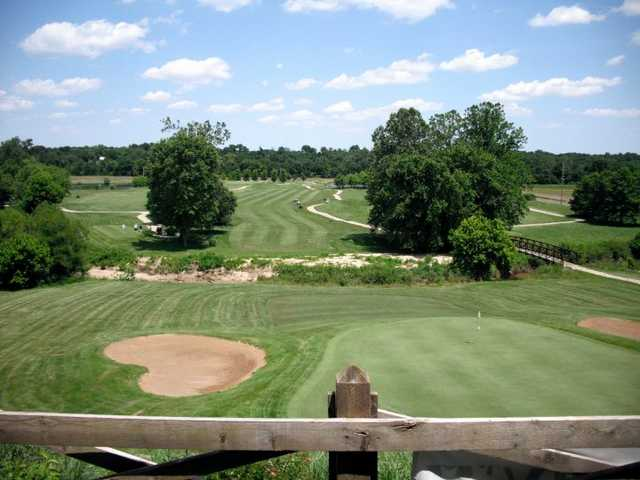 A view from the clubhouse terrace at Woodlands Golf Club