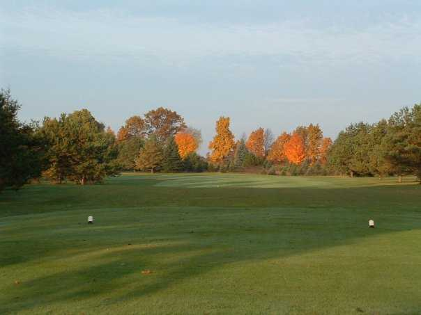 A view from a tee at Yankee Springs Golf Course