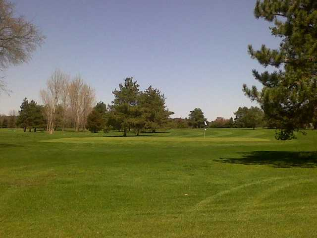 A view of a green at Yankee Springs Golf Course