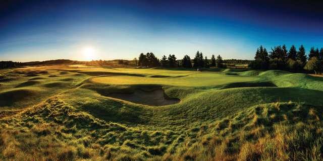 A view of a green at The Bear Course from Grand Traverse Resort & Spa
