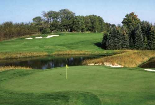 A view of a green at The Wolverine Course from Grand Traverse Resort & Spa