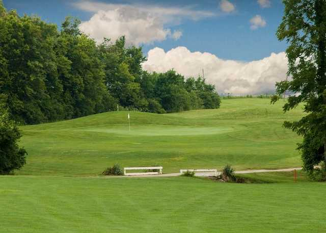 A view of a green at Hidden Valley Golf Course