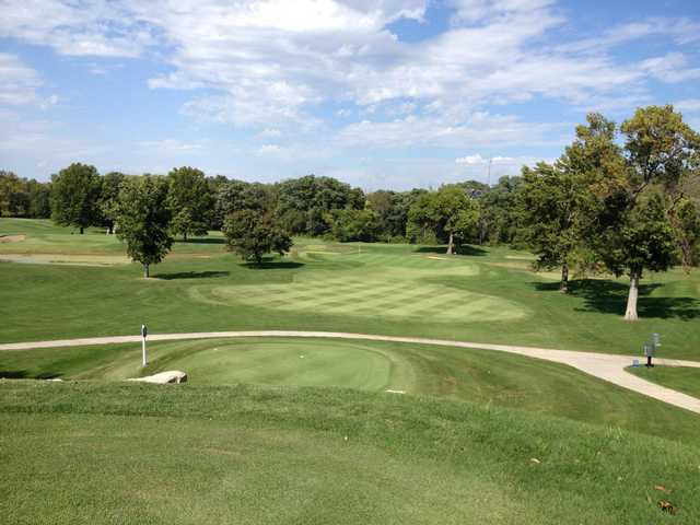 A view from a tee at Heart of America Golf Academy