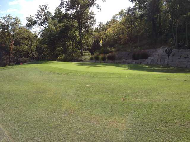 A view of a hole at Heart of America Golf Academy
