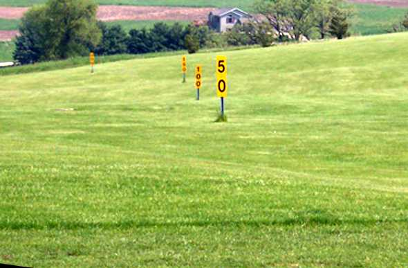 A view of the driving range at Ma Cal Grove Country Club