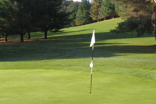 A view of a hole at Ferndale Country Club